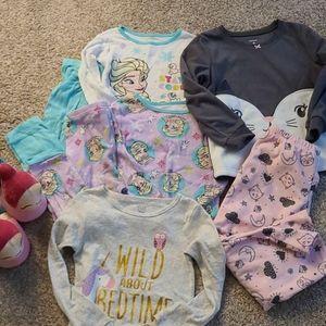 Pajama lot girls 4t